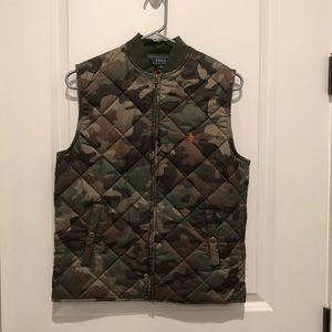 Polo Ralph Lauren Quilted Camo Vest New With Tags